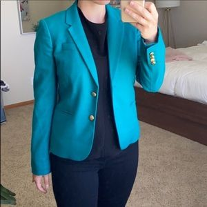 J. Crew Teal Green Blazer Button Up Size:Small